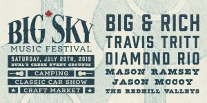 The Line-up of the Big Sky Music Festival 2019